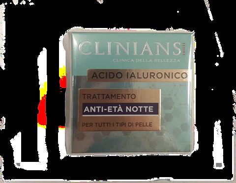 CLINIANS TRATTAMENTO ANTIETA' NOTTE con ACIDO IALURONICO 50 ML
