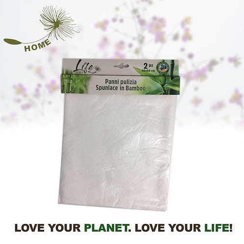 Panno Pulizia in Bamboo 50x60 cm 2pz Life Green