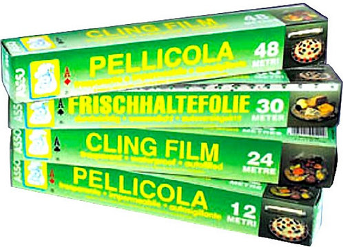 PELLICOLA ALIMENTI TRASPARENTE FILM  30 Mt PE  ASSO