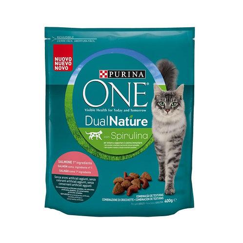 PURINA ONE gatto DUALNATURA con salmone Gr400