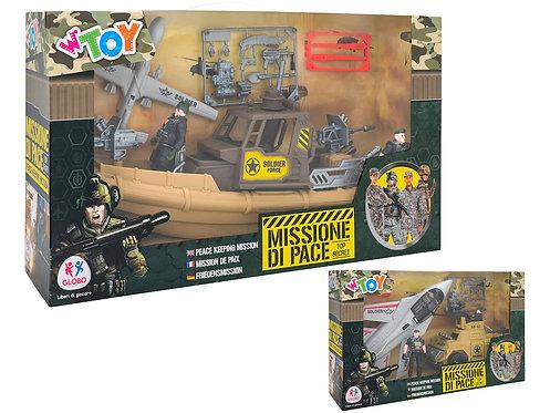 PLAYSET Gioco Militari 2 Soldati con Mezzi Forze Speciali