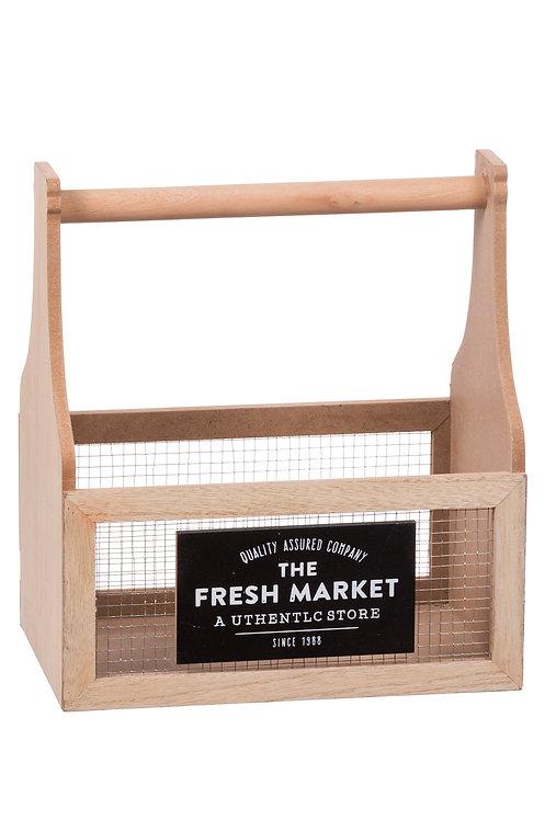 Porta Bottiglie Cucina in legno MDF e metallo