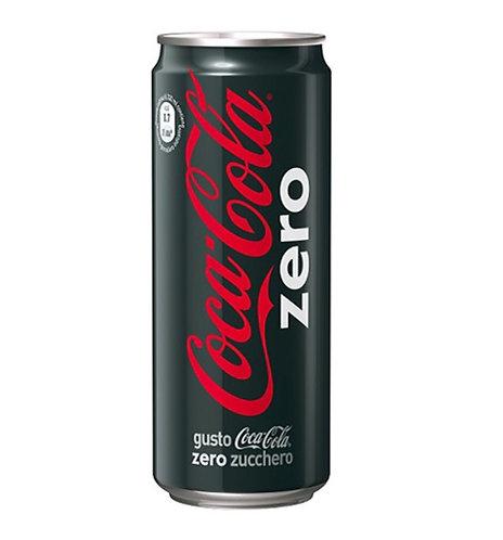 lattina bibita COCA-COLA zero 33cl