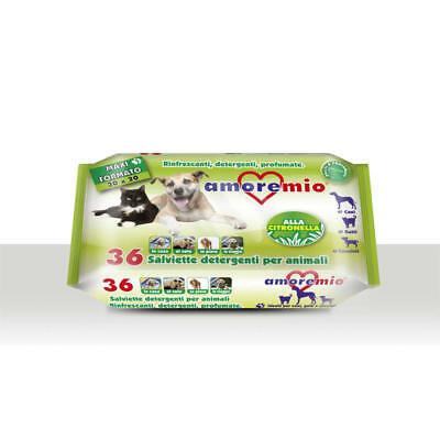 AMORE MIO salviette detergenti animali CITRONELLA PZ 36