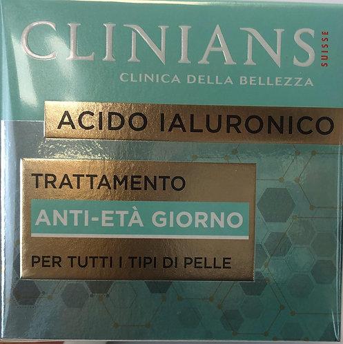 CLINIANS TRATTAMENTO ANTIETA' GIORNO con ACIDO IALURONICO 50 ML