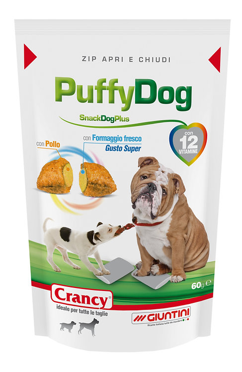 CRANCY Snack Puffy Dog GR60 Ricompensa per Cani