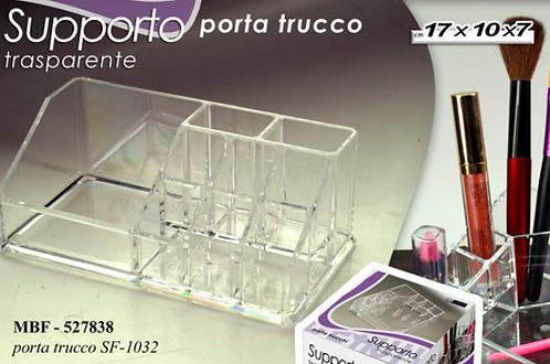 PORTA TRUCCHI TRASPARENTE in plastica crystal