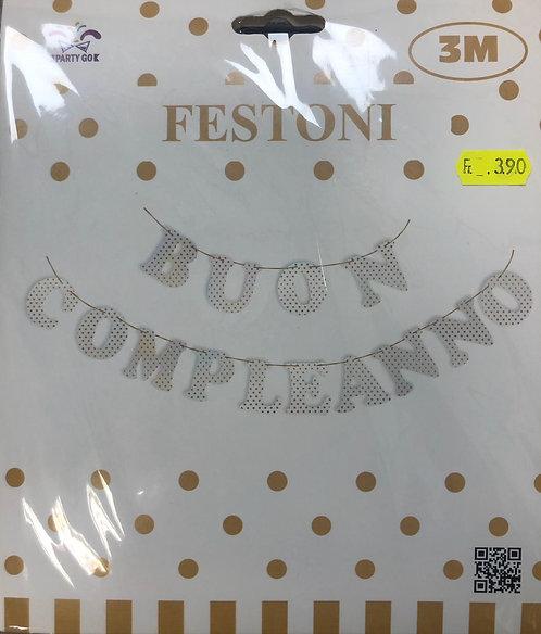 FESTONE BUON COMPLEANNO 3m