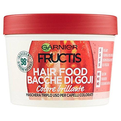 Garnier Fructis Maschera  Nutriente 3 in 1 Vegana per Capelli Colorati, 390 ml