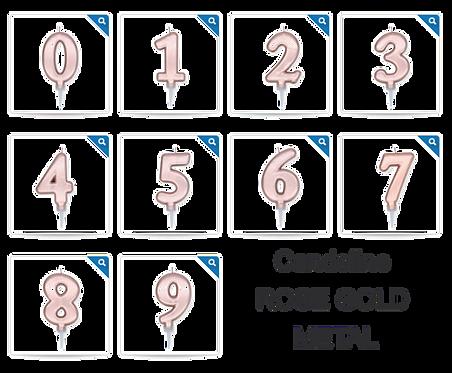 CANDELINA PLUMP ROSE GOLD METAL 10 cm