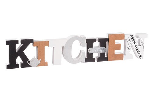 Copia di Scritta 3D Kitchen  Decorativa per Cucina in MDF