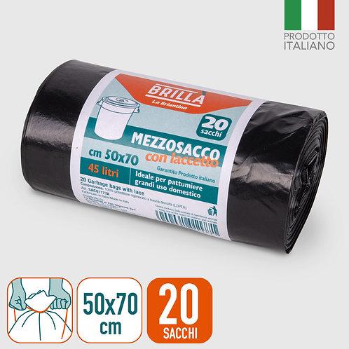 SACCHI PATTUM NERI 50X70 CM MEZZOSACCO 20PZ 45L