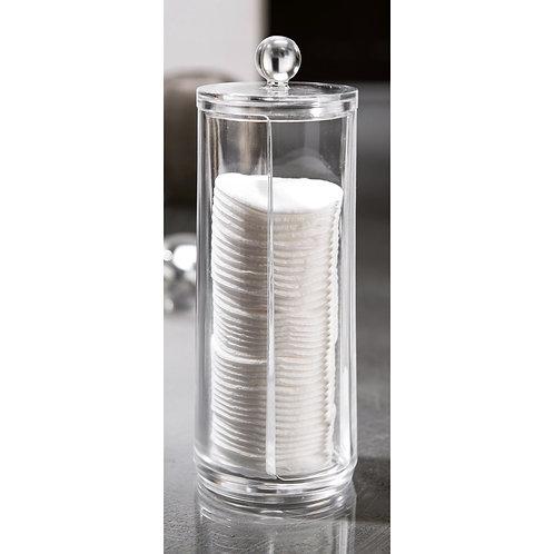 PORTA DISCHETTI COTONE TRASPARENTE in plastica crystal