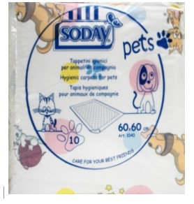 tappetini igienici animali 60x60 cm