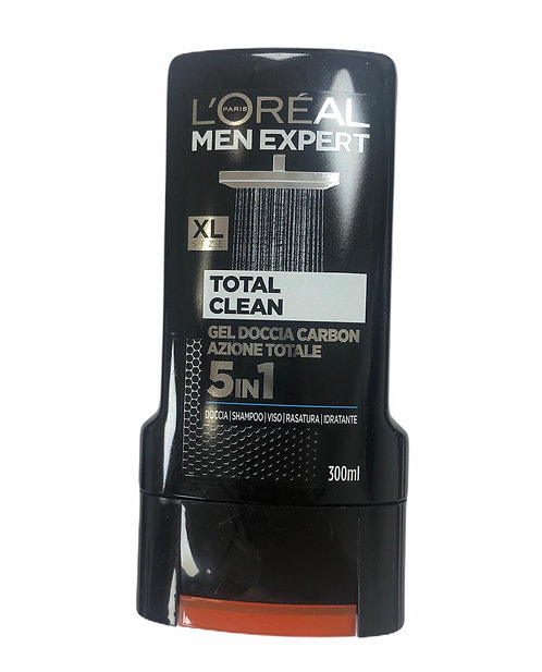 L'OREAL MEN EXPERT GEL DOCCIA 5 in 1 Total Clean 300 ml