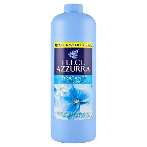 FELCE AZZURRA RICARICA sapone mani Idratante Muschio Bianco 750 ML