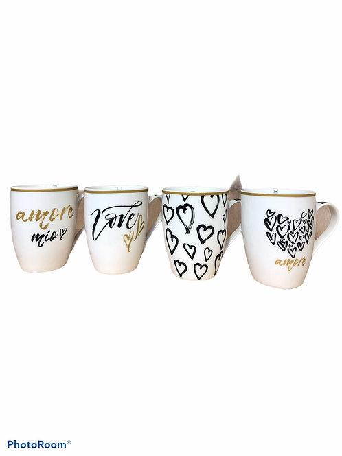 Tazza Mug in Porcellana con Decoro Love