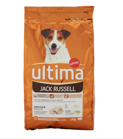 ULTIMA DOG JACK RUSSEL POLLO 1,5 KG