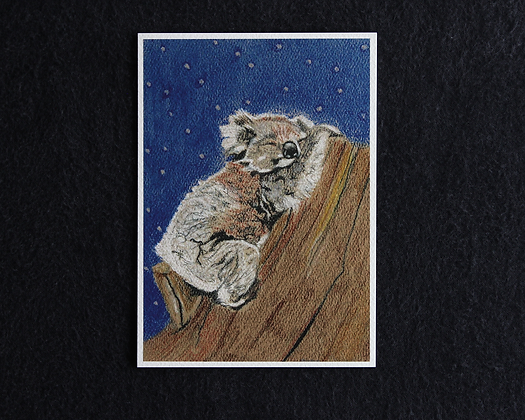 Sleeping Koala Pastel Prints