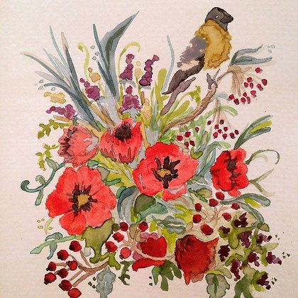 Bouquet Bird Original