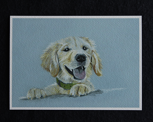 Happy Pup Pastel Print