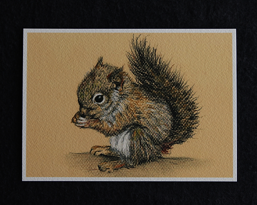 Squirrel Pastel Print