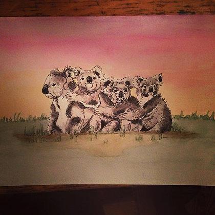 Koala Family Original