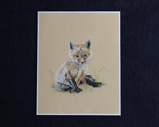 Sweet Fox Pastel Print
