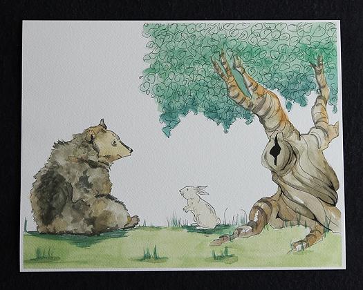 Forest Friends Watercolor Prints