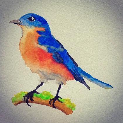 Bird on Moss Original