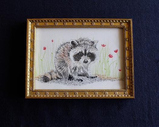 Rascal Raccoon Original in Frame
