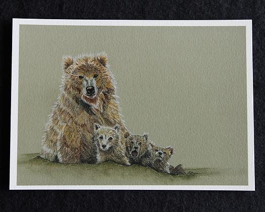 Bear Family Pastel Prints