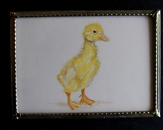 Yellow Duckling Original in Frame