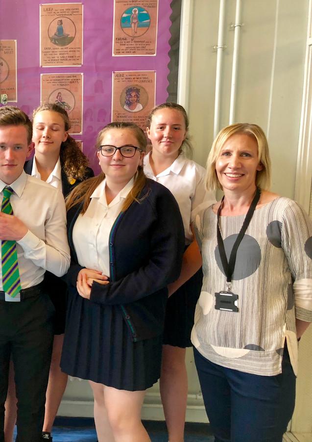 Hallmead school enterprise day winners