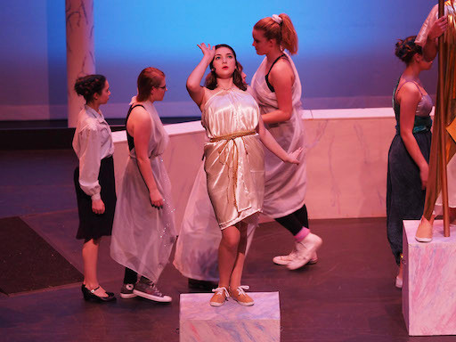 Goddess Thetis is struck by what she's just seen
