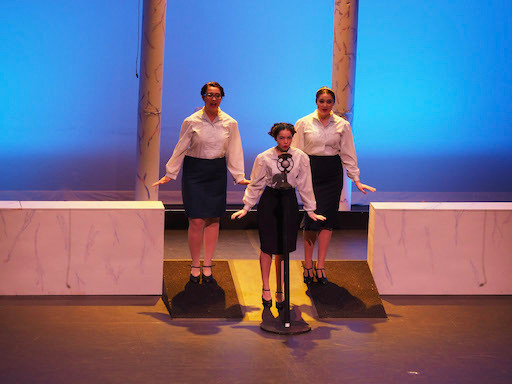 The Andrews Sisters sing in Danny's flashback