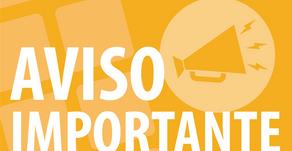 AVISO IMPORTANTE DO SANTUÁRIO DAS APARIÇÕES DE JACAREÍ