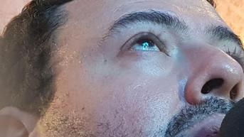 Vulto de Nossa Senhora refletido nos olhos do vidente Marcos Tadeu Teixeira | 09.09.2018 - Jacareí,