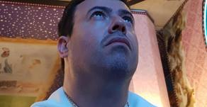 Vulto de Nossa Senhora refletido nos olhos do vidente Marcos Tadeu, na Aparição do dia 15 de abril d