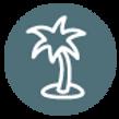 Palma Ícone da árvore - Teal