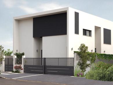 Location: Caesarea Total floor area: 230 sqm Total site area: 609 sqm Program: Single family house Design & built: 2015-2018