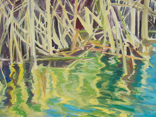 Reeds at Waters' Edge #2 20x16