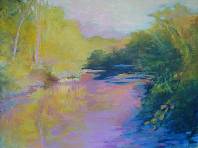 Tributary in High Summer 30x40