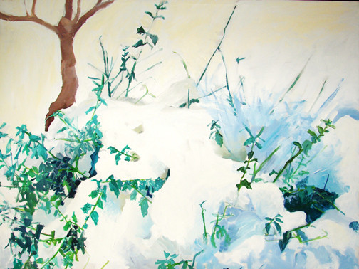 Snow Covered Holly 48x38