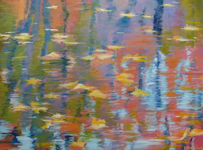 Leaves on Water #4 36x48