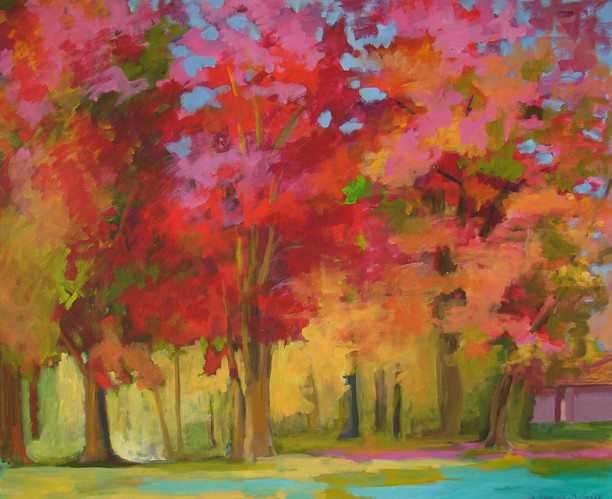 Autumn Tapestry (Red Series) 36x30