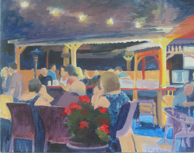 Diners Under a Night Sky 30x24