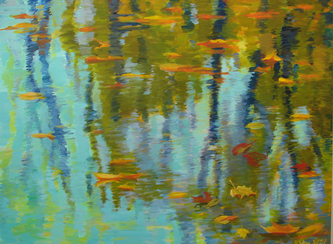 Leaves on Water #3 36x48