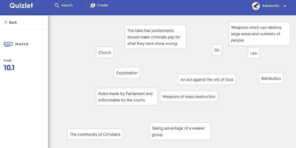 Match Screenshot - quizlet.com