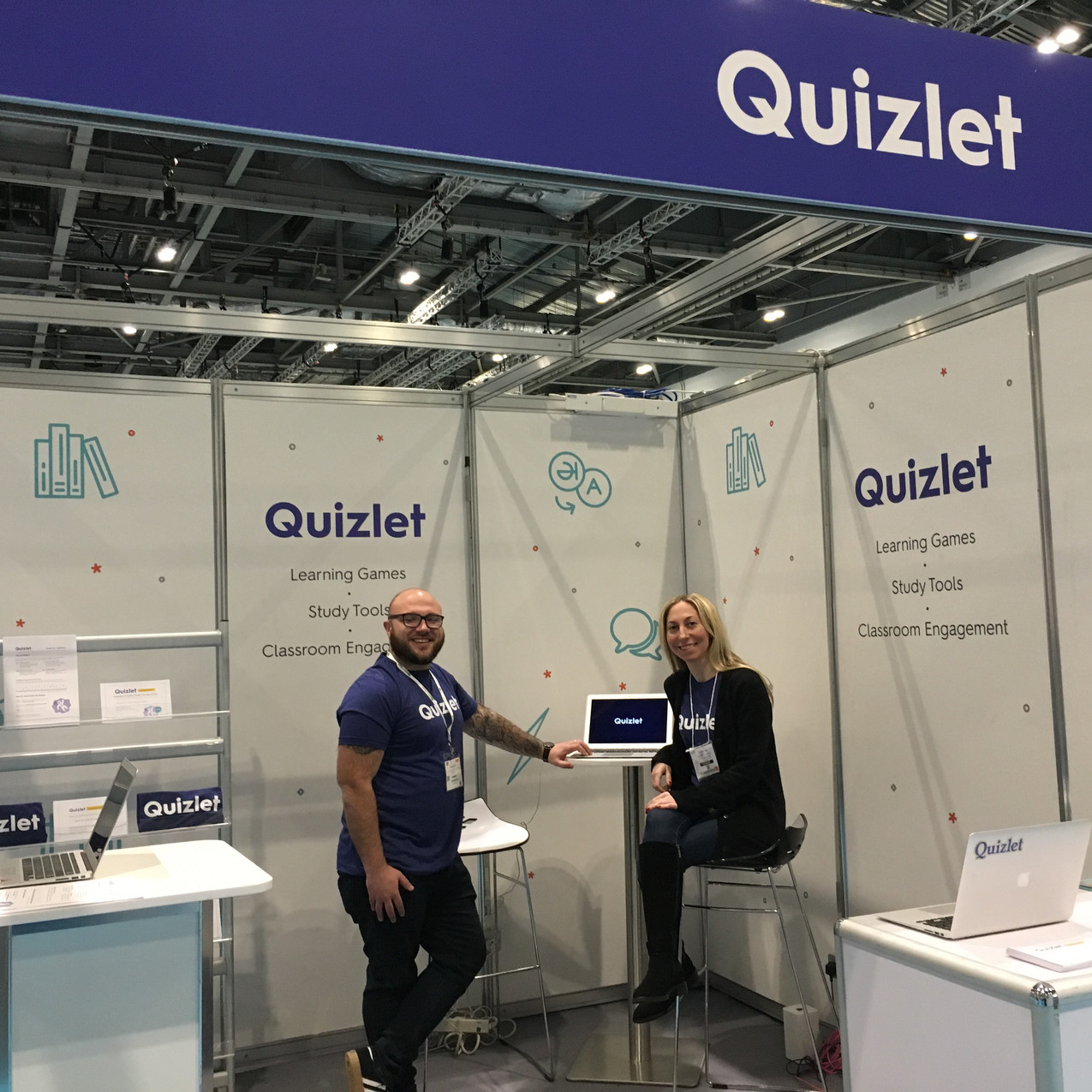 Images of Ben presenting at The Education Show for Quizlet January 2019